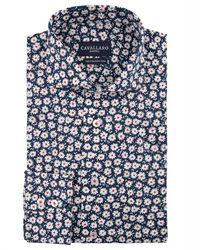 Cavallaro Fiore shirt - Bleu
