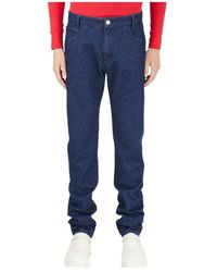 Raf Simons Classic Denim Trousers - Blauw