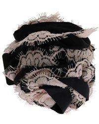Dolce & Gabbana Griffe à cheveux en dentelle florale - Noir