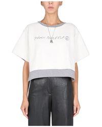 MM6 by Maison Martin Margiela Inside Out Reversed Sweatshirt - Wit