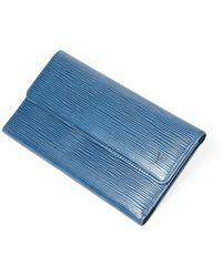 Louis Vuitton International Wallet - Blu