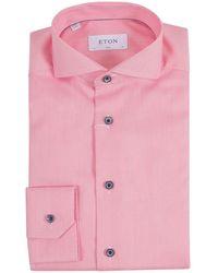 Eton Overhemd 100001411 55 - Rosa