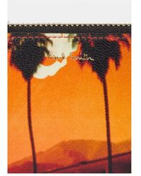 Paul Smith Porte carte monnaie imprimé palmiers Naranja