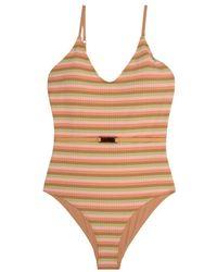 Love Stories Madison striped swimsuit - Neutre