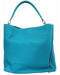 Fendi Vintage Pre-owned selleria anna bucket bag condition very - Blu