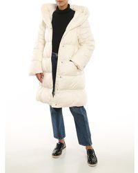 Add Hooded Long Down Coat W/Detachable Sleeves Blanco