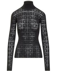 Givenchy Lace Sweater With Logo - Zwart