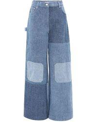 JW Anderson Patchwork Workwear Jeans - Bleu