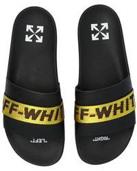 Off-White c/o Virgil Abloh 'industriële' Schuivers - Zwart
