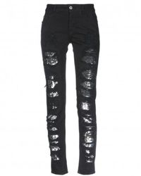 Just Cavalli Jeans With Paillet - Zwart