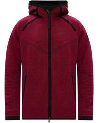 Nike Felpa con cappuccio con zip - Rosso