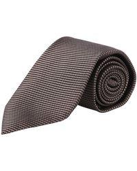 Tom Ford Cravate à micro-motifs - Marron