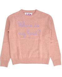 Mc2 Saint Barth New Queen Emb Where Sweater - Rose