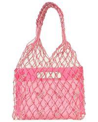 MSGM Net Tote Bag - Roze