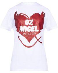 Philipp Plein T-shirt with logo - Blanc