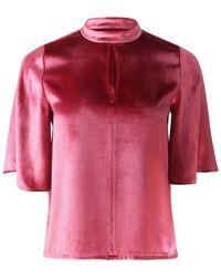 J Brand Chani Short Sleeve Top - Roze