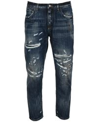 Dolce & Gabbana Cropped Jeans Gyjdadg8dn3 - Blauw