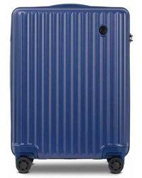 Conwood Vector 55 Cm Blueprint Cabin Suitcase - Blauw