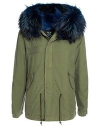 Mr & Mrs Italy Mini Parka With Coyote FUR - Vert