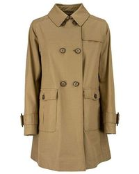Herno Double Breasted Trench Coat - Bruin