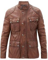 Belstaff - Fieldbrook 2.0 Leather Jacket - Lyst
