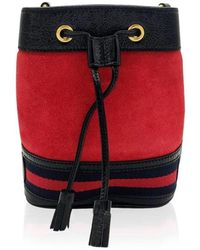 Gucci Red Ophidia bucket shoulder bag - Rosso