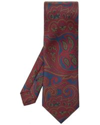 Etro Patterned Tie - Rood