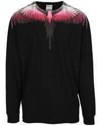 Marcelo Burlon Sweatshirt Cmab007F21Jer001 - Nero
