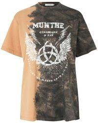 Munthe T-shirt 1110 21361 - Bruin