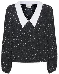 Gestuz Katlagz Ls Shirt - Zwart