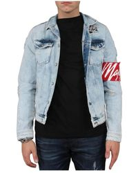 MALELIONS Captain Denim Jacket - Blauw