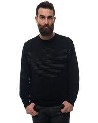 Emporio Armani Round-necked Pullover - Zwart