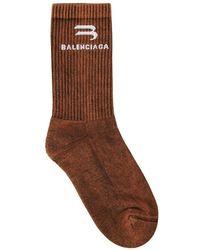 Balenciaga Bleached Tennis Socks - Braun