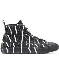 Dolce & Gabbana Giggies Hi Hoogste Tennisschoenen - Zwart