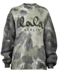 Lala Berlin Sweatshirt Izaya TIE DIE - Grigio
