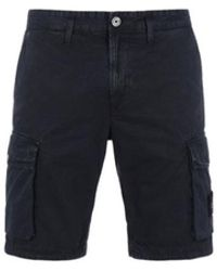 Stone Island L07wa Bermuda Cargo Shorts - Blauw