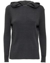 Calvin Klein Sweatshirt with Hood - Nero
