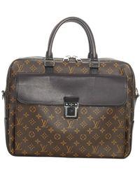 Louis Vuitton Gebrauchte Monogram Macassar Soft Aktentasche Canvas - Braun