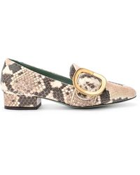 Paola D'arcano Dixi Python Printed Leather Loafer - Naturel