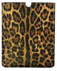 Dolce & Gabbana Leather iPAD Cover Bag Marrón