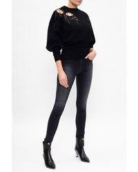 DIESEL Wide-sleeve sweater Negro