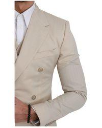 Dolce & Gabbana Double Breasted 3 Piece Suit - Neutre