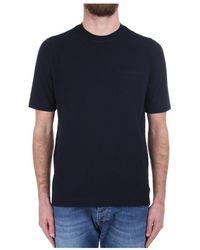 Zanone 812477 Z0380 Short Sleeve T-shirt - Blauw