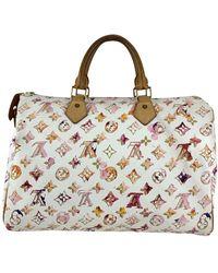Louis Vuitton Richard Prince Watercolor Speedy 35 Bag - Rosa
