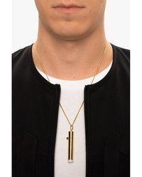 Ambush 'Pill Case necklace with charm Beige - Neutro