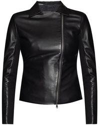 Emporio Armani Veste de cuir - Noir