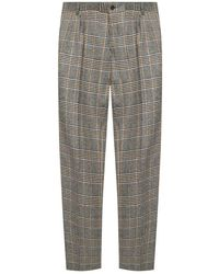 Dolce & Gabbana Patterned Pleat-front Trousers - Bruin