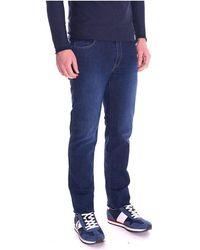 Trussardi Jeans 380 Icon Washed Dark Blue - Blauw