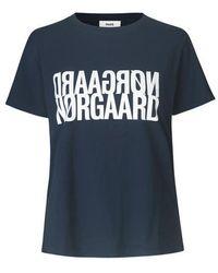 Mads Nørgaard Single Organic Trenda T-shirt 101825p - Blauw
