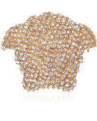 Versace Brooch With Medusa Head - Geel